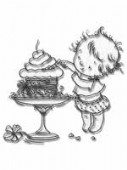 Nellie Snellen - Little Dawn Clear Stamp - Sneaky Taste - DL003